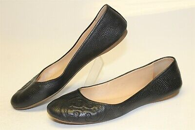 Tory Burch Womens Size 8 M Embossed Leather Slip On Ballet Flats Shoes 287