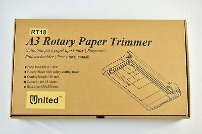 United Rt18 18 Rotary Paper Trimmer 15 Sheet Capacity Office And Craft