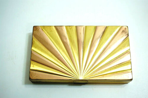 EVANS Art Deco Ladies Minaudiere Compact & Cigarette Carry All Case Vintage 50