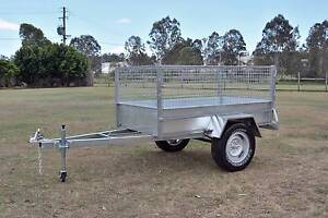 7x4 Galvanised Trailer - 550 High Cage Beenleigh Logan Area Preview