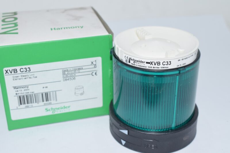 NEW Schneider Electric XVBC33 Visual Warning Device, Module, Steady Lens, Green,