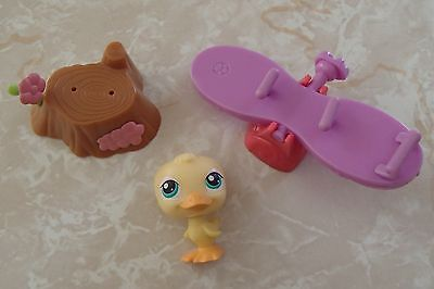 Littlest Pet Shop Cat Dog Accessory Lot Easter Basket Gift Set Duck Duckling