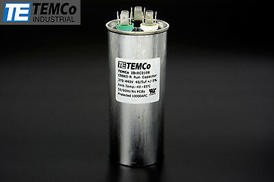 TEMCo 40+5 uf/MFD 370-440 VAC volts Round Dual Run Capacitor 50/60 Hz -Lot-1