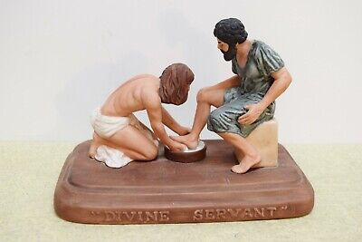 """Divine Servant"" Statue - Holy Thursday - Jesus Washing Peters Feet - (CU207)"