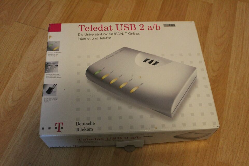 Telekom Teledat USB 2 a/b ISDN T-Online Internet Telefon Box in Langenselbold