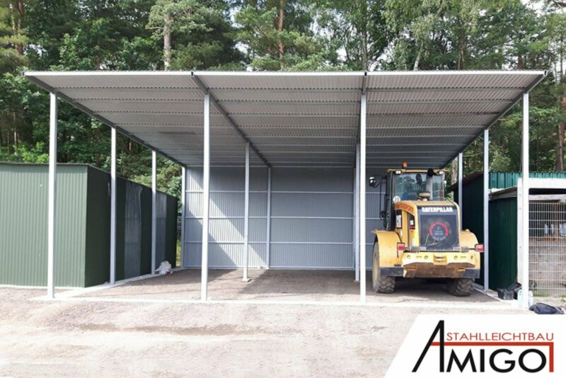 Metall Halle Lager Halle Schuppen Blechgarage Garage Fertiggarage