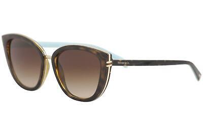 Tiffany & Co. Women's TF4152 TF/4152 8015/3B Havana Cat Eye Sunglasses (Tiffany & Co Cat Eye Sunglasses)