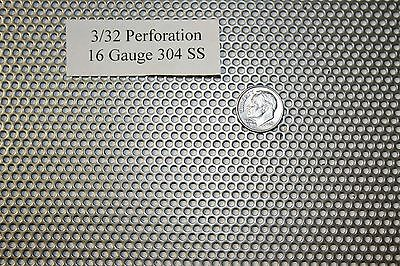 332 Inch Hole 16 Gauge 9 X 12 Inch Perforated 304 Stainless Steel Screen Sieve
