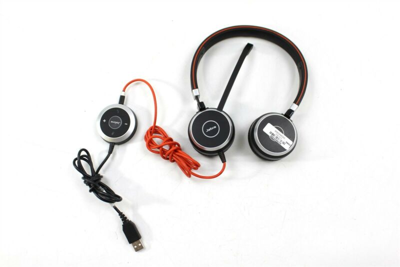 Jabra Evolve 40 Stereo Wired Headset w/ Built-in Microphone and USB Controller