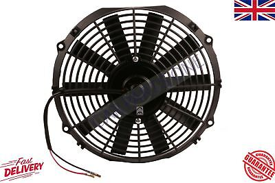 UNIVERSAL ELECTRIC COOLING TURBO KIT CAR CURVED BLADE RADIATOR FAN 24V NEW BRAND