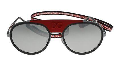 Dolce & Gabbana 236444 Womens Pilot Sunglasses Ruthenium/Silver Size 55-19-140