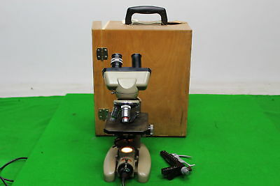 Vickers Instruments Binocular Microscope M142 Patent No 877813 In Wooden Case