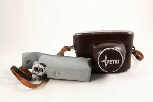Petri Rangefinder 35mm Camera Color Corrected Super 2.8 Leather Case Accessory