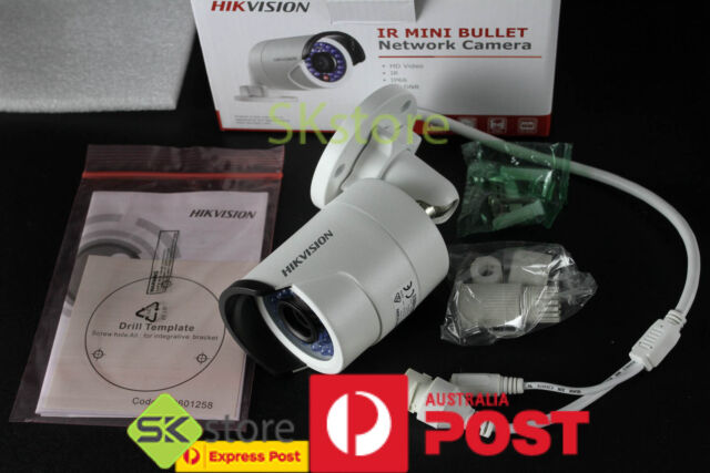 Hikvision 4MP WDR Mini Bullet Network Camera 4mm DS-2CD2042WD-I POE IR onvif