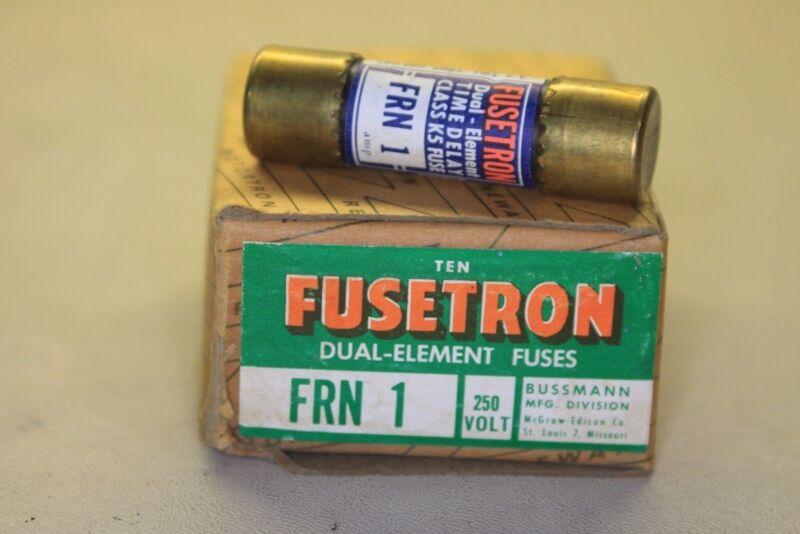 Buss FUSETRON FRN 1 250 VOLT DUAL ELEMENT FUSE box of 10