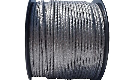 "Grey 5/32""×330ft 12Strand Winch Line,UHMWPE Winch Cable,Synthetic Rope Cable for sale  Shipping to Canada"