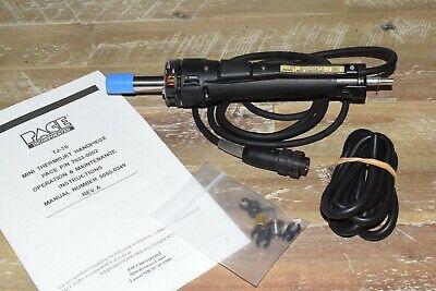 Pace Tj-70 Mini Thermojet Sensatemp Solder Desolder Handpiece W Single Curve Tip