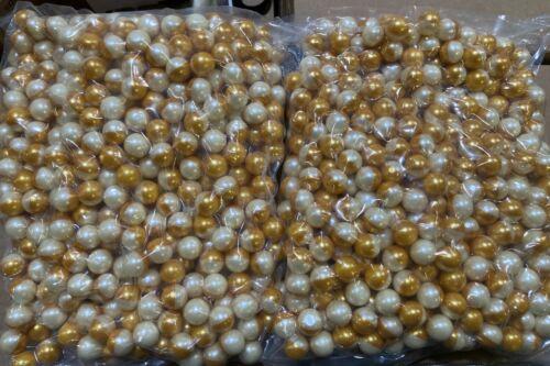 Gold/White .68 Caliber Paintballs White Paint Fill 1000 / Order New In Bag