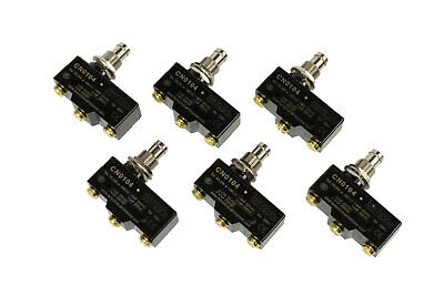 6 Lot Temco Heavy Duty 15a Micro Limit Switch Plunger Spdt Snap Action 125250v