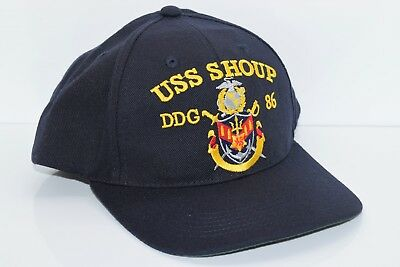 US Navy USS Shoup (DDG-86) Snapback Ball Cap Hat - Made in the USA