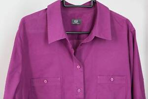 Sportscraft collared shirt, purple, 100% cotton. Marrickville Marrickville Area Preview