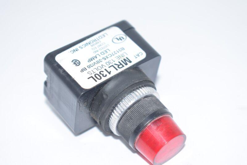 Ledtronics MRL130L Red LED Pilot Light 28V 30BP B3127CX5
