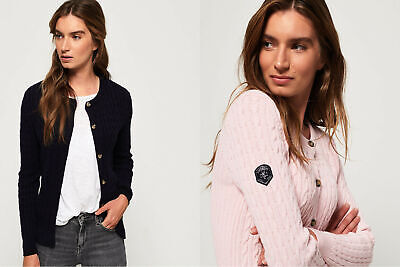 Superdry Womens Croyde Bay Cable Knit Cardigan