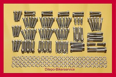 Harley Davidson V-Rod Edelstahl Schraubensatz konisch Motorschrauben 178 Teile ()