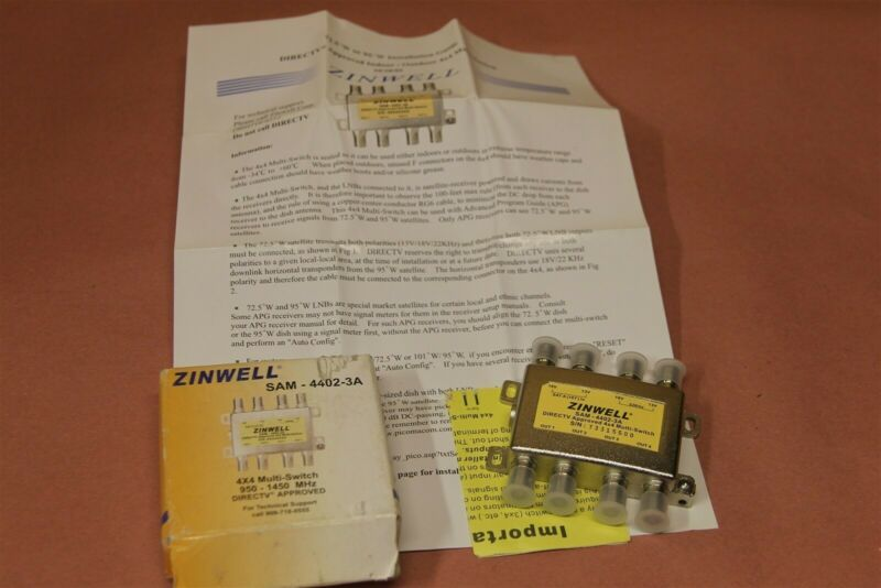 Zinwell SAM-4402 3A 4 x 4 Multi Switch 950 - 1450 Mhz NEW 6 pieces in LOT