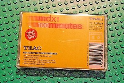 TEAC MDX I 100 VARIOUS COLORS BLANK CASSETTE TAPE (1) (SEALED)