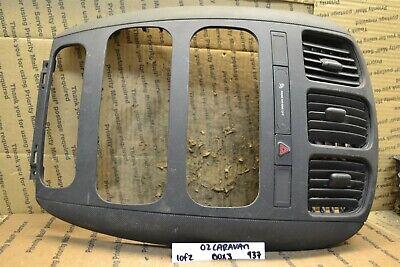 01-07 Dodge Caravan Radio Bezel Dash Trim P05005086AA Panel Bx 3 937-10F2