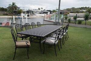 Outdoor Cast Aluminum 11 piece Dining Setting Minyama Maroochydore Area Preview
