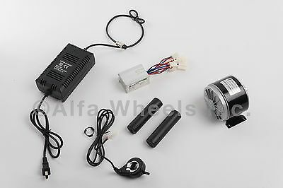 350 Watt 24 Volt Electric Motor Kit W Speed Controller Thumb Throttle Charger