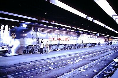 Original 1972 B&O Baltimore & Ohio James Riley Train IC Station Chica Slide 2074