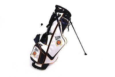 Iconic Bags Miller Lite Stand Golf Bag 7 Way Divider White Rain Hood Included