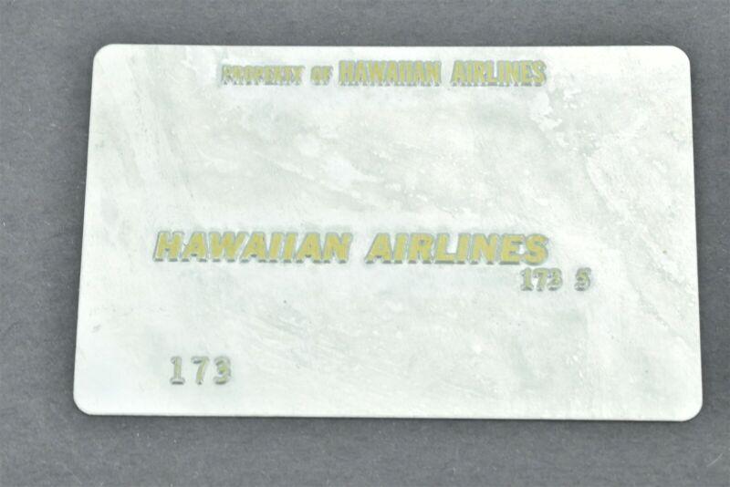 Hawaiian Airlines Validation Plate