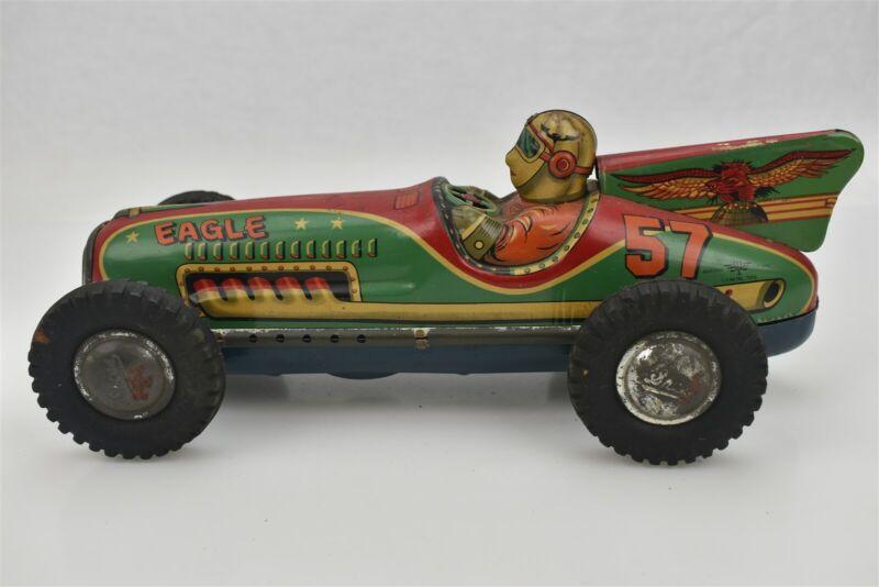 I.Y. Metal Toys Eagle Race Car #57 Vintage Japan Friction