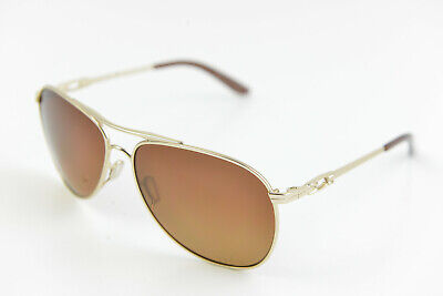 Oakley DAISY CHAIN Polished Gold /  Polarized Brown OO4062-12 Aviator 60-14