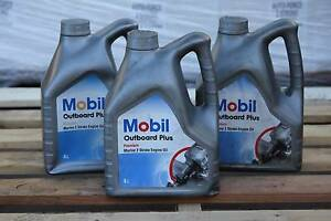 NEW-OLD STOCK MOBIL Outboard Plus Oil 3x4L Mawson Lakes Salisbury Area Preview