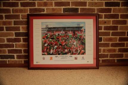 Illawarra Steelers Greats - Framed and signed Memorabilia AS NEW