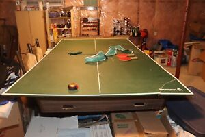 Pool table and ping pong table top with accessories