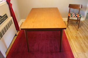 Teak Dining Table and 2 Chairs