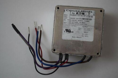 CROUSE-HINDS EATON LED LIGHT DRIVER PS2565R-Y-751, REV D, AC/DC POWER INVERTER