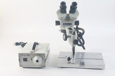 Meiji Emz Dual Microscope W Stand V-lux 1000 Light Source Illuminator - Fair