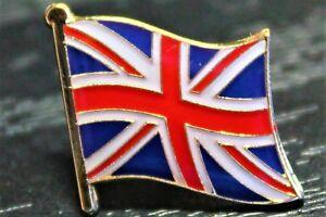 UK BRITAIN UNION JACK British Flag Metal Lapel Pin Badge *NEW*