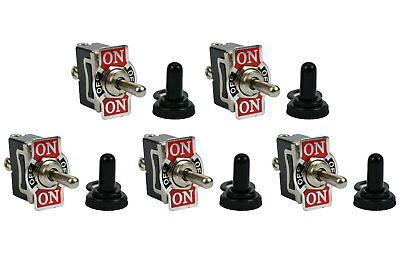 5 Pc 20a 125v Toggle Switch On-off-on Spdt 3 Terminal Momentary 2 Sideboot