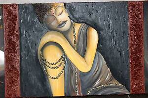 Bali Buddha Painting/Original Designer/ Oil Painting Hope Island Gold Coast North Preview