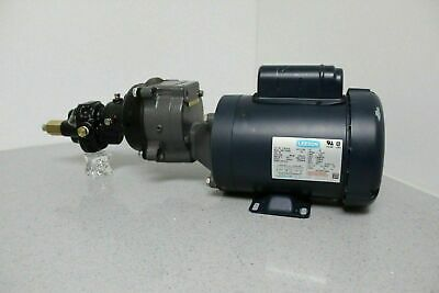 Leeson Motor Baldor Gear Reduction Unit Shurflo Fluid Pump Combination 115v208v