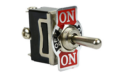(TEMCo Heavy Duty 20A 125V (ON)-OFF-(ON) SPDT 3 Terminal Toggle Switch Momentary)