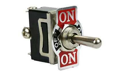 Heavy Duty Toggle Switch 20a 125v On-off-on Spdt 3 Terminal Momentary 2 Side